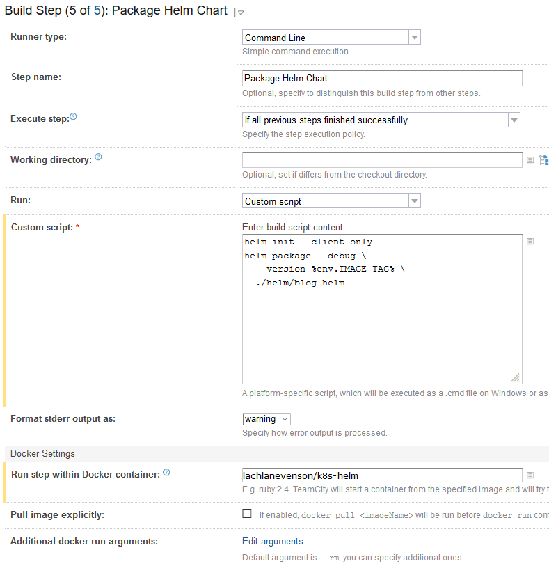 CD with Helm part 5: versioned artifacts | ngeor com