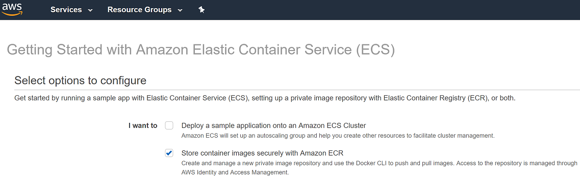 Using AWS ECR as a Docker registry | ngeor com